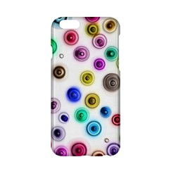 Colorful Concentric Circles        Apple Iphone 6/6s Black Enamel Case by LalyLauraFLM