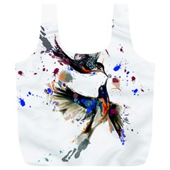 Colorful Love Birds Illustration With Splashes Of Paint Full Print Recycle Bags (l)  by TastefulDesigns