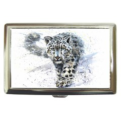 Snow Leopard 1 Cigarette Money Cases by kostart