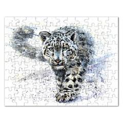 Snow Leopard 1 Rectangular Jigsaw Puzzl by kostart