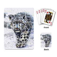 Snow Leopard 1 Playing Card by kostart