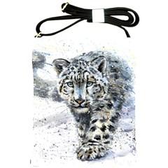 Snow Leopard 1 Shoulder Sling Bags by kostart