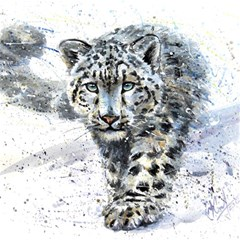 Snow Leopard 1 Magic Photo Cubes by kostart