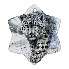 Snow Leopard 1 Snowflake Ornament (two Sides) by kostart