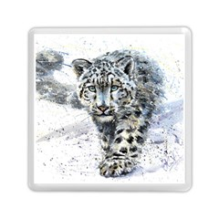 Snow Leopard 1 Memory Card Reader (square)  by kostart