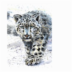Snow Leopard 1 Small Garden Flag (two Sides) by kostart