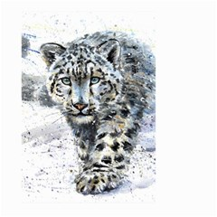 Snow Leopard 1 Large Garden Flag (two Sides) by kostart