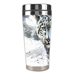 Snow Leopard 1 Stainless Steel Travel Tumblers by kostart