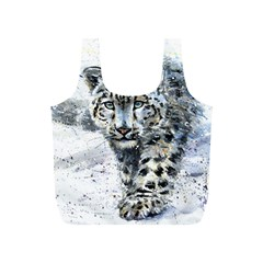 Snow Leopard 1 Full Print Recycle Bags (s)  by kostart