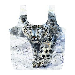 Snow Leopard 1 Full Print Recycle Bags (l)  by kostart