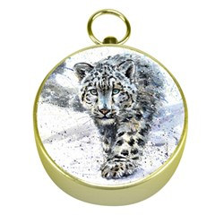 Snow Leopard 1 Gold Compasses by kostart