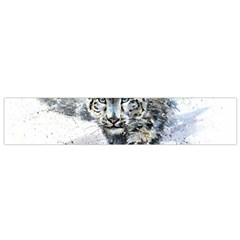 Snow Leopard 1 Flano Scarf (small) by kostart
