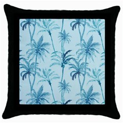 Watercolor Palms Pattern  Throw Pillow Case (black) by TastefulDesigns