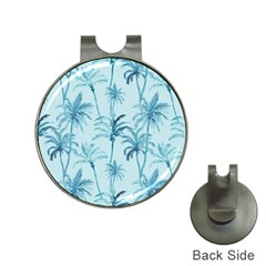 Watercolor Palms Pattern  Hat Clips With Golf Markers by TastefulDesigns