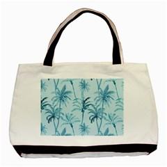 Watercolor Palms Pattern  Basic Tote Bag by TastefulDesigns