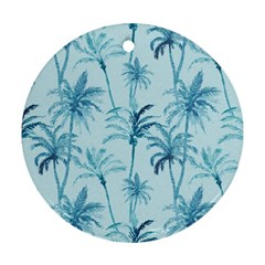 Watercolor Palms Pattern  Round Ornament (two Sides) by TastefulDesigns
