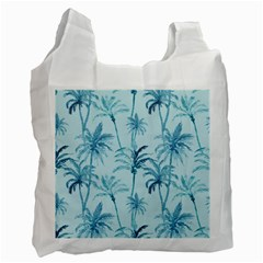 Watercolor Palms Pattern  Recycle Bag (one Side) by TastefulDesigns