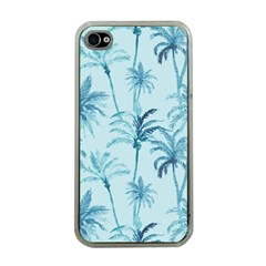 Watercolor Palms Pattern  Apple Iphone 4 Case (clear) by TastefulDesigns