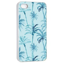 Watercolor Palms Pattern  Apple Iphone 4/4s Seamless Case (white) by TastefulDesigns