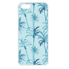 Watercolor Palms Pattern  Apple Iphone 5 Seamless Case (white) by TastefulDesigns