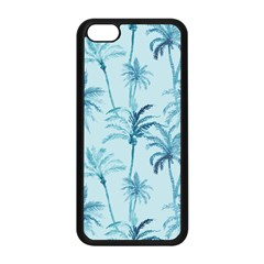 Watercolor Palms Pattern  Apple Iphone 5c Seamless Case (black) by TastefulDesigns