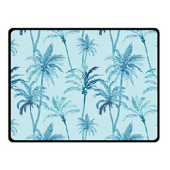 Watercolor Palms Pattern  Double Sided Fleece Blanket (small)  by TastefulDesigns