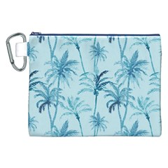 Watercolor Palms Pattern  Canvas Cosmetic Bag (xxl) by TastefulDesigns