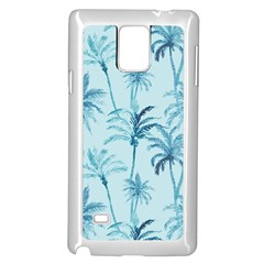 Watercolor Palms Pattern  Samsung Galaxy Note 4 Case (white) by TastefulDesigns