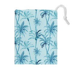 Watercolor Palms Pattern  Drawstring Pouches (extra Large) by TastefulDesigns