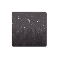 Night Full Star Square Magnet by berwies