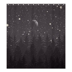 Night Full Star Shower Curtain 66  X 72  (large)