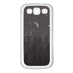 Night Full Star Samsung Galaxy S3 Back Case (white) by berwies