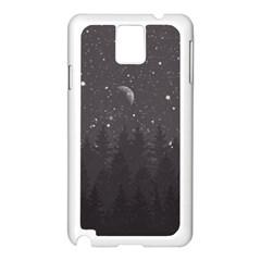 Night Full Star Samsung Galaxy Note 3 N9005 Case (white) by berwies