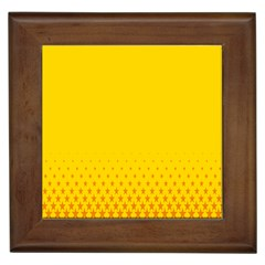 Yellow Star Light Space Framed Tiles by Mariart