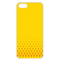 Yellow Star Light Space Apple Iphone 5 Seamless Case (white) by Mariart