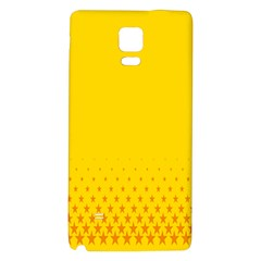 Yellow Star Light Space Galaxy Note 4 Back Case by Mariart