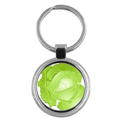 Cabbage Leaf Vegetable Green Key Chains (round)  by Mariart