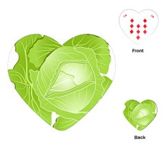 Cabbage Leaf Vegetable Green Playing Cards (heart)