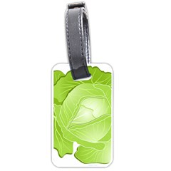 Cabbage Leaf Vegetable Green Luggage Tags (one Side)  by Mariart