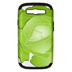 Cabbage Leaf Vegetable Green Samsung Galaxy S Iii Hardshell Case (pc+silicone) by Mariart
