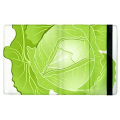 Cabbage Leaf Vegetable Green Apple Ipad 3/4 Flip Case by Mariart