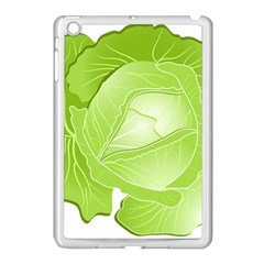 Cabbage Leaf Vegetable Green Apple Ipad Mini Case (white) by Mariart