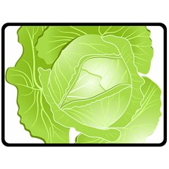 Cabbage Leaf Vegetable Green Double Sided Fleece Blanket (large)  by Mariart