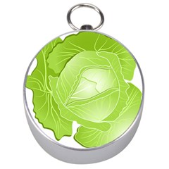 Cabbage Leaf Vegetable Green Silver Compasses by Mariart