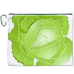 Cabbage Leaf Vegetable Green Canvas Cosmetic Bag (xxxl) by Mariart