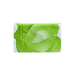 Cabbage Leaf Vegetable Green Cosmetic Bag (xs) by Mariart