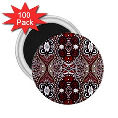 Batik Fabric 2 25  Magnets (100 Pack)  by Mariart