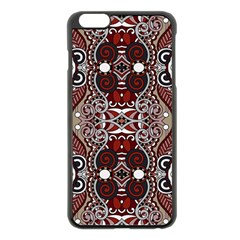 Batik Fabric Apple Iphone 6 Plus/6s Plus Black Enamel Case by Mariart