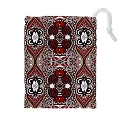Batik Fabric Drawstring Pouches (extra Large) by Mariart