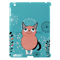 Cat Face Mask Smile Cute Leaf Flower Floral Apple Ipad 3/4 Hardshell Case (compatible With Smart Cover) by Mariart
